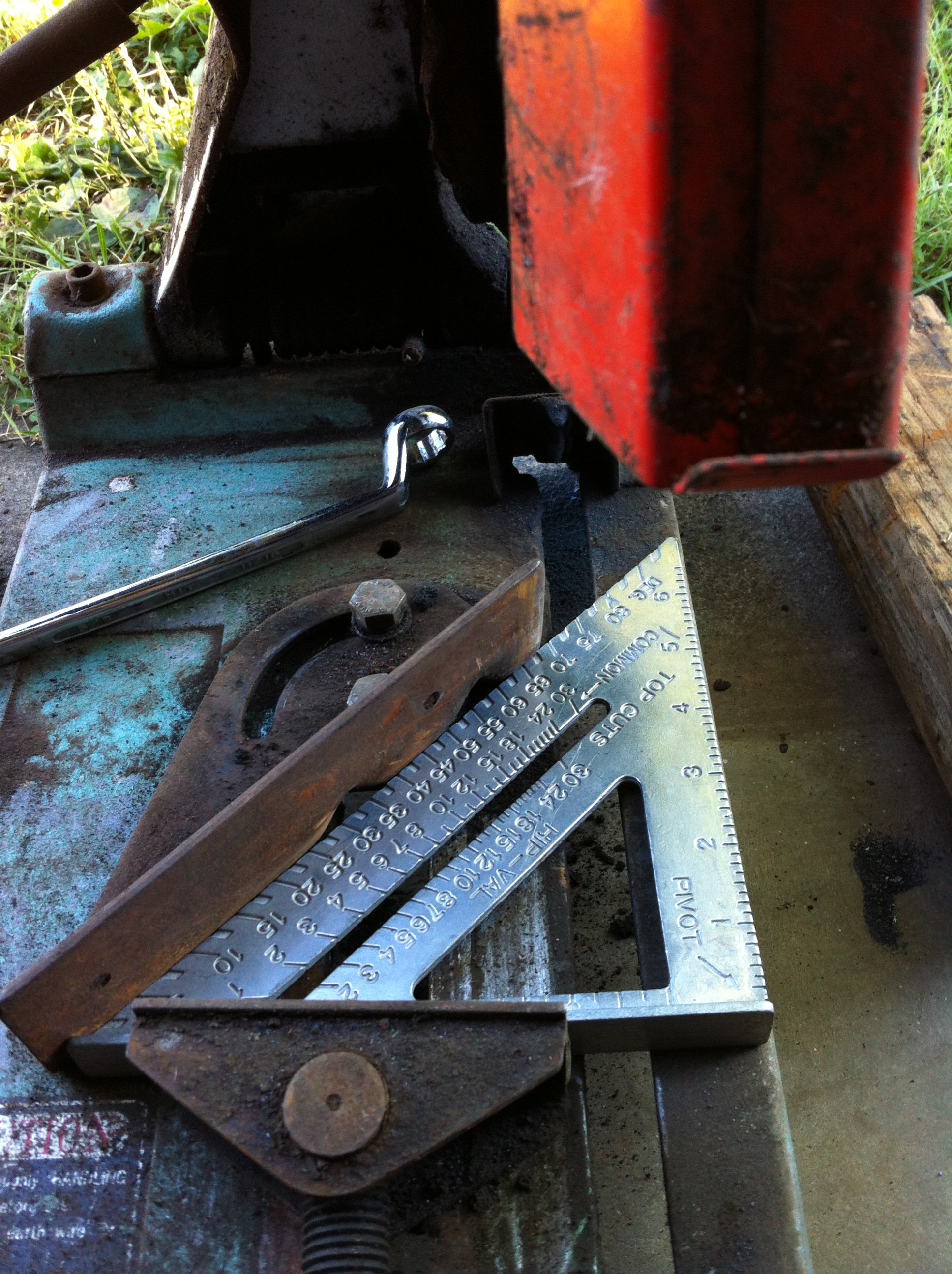 setting up the chop saw
